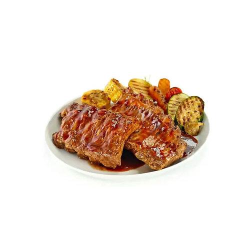 Costilla de cerdo asado BBQ
