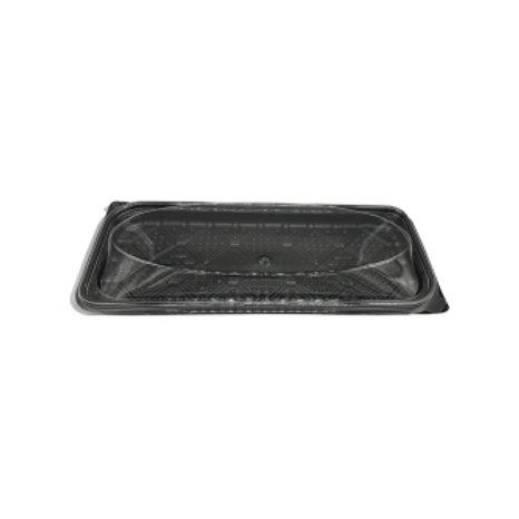 Bandeja plástica para costillar 40x17x6 cm (80 uds).