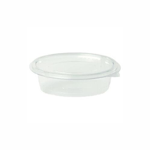 Envase tarrina oval transp. 250ml (50 uds).