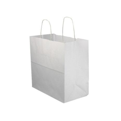 Bolsa papel blanca asa rizada