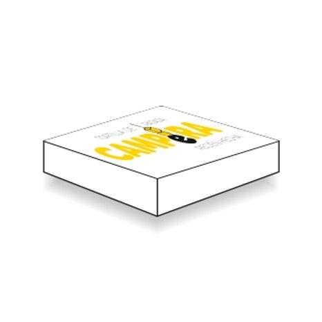 Caja de cartón tortilla 24cm · 100 uds. (personalizada Ilipa).