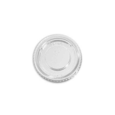 Tapa de plástico transparente para salsas 70/60ml (100 uds).
