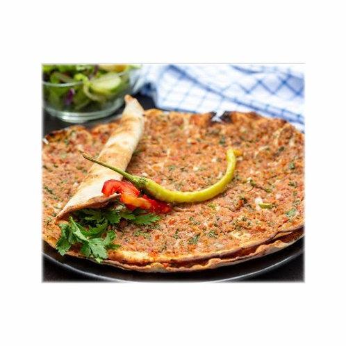 Lahmacun gruesa (pizza turca)