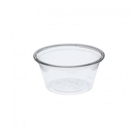 Tarrina de plástico transparente sin tapa 60/70cl