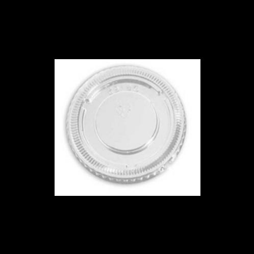 Tapa de plástico transparente para salsas.