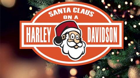 Santa Claus on a Harley-Davidson 2019