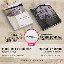 Flyer Presentación de libros