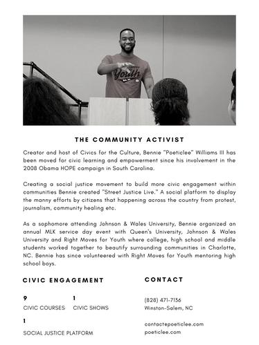 COMMUNITY ACTIVIST