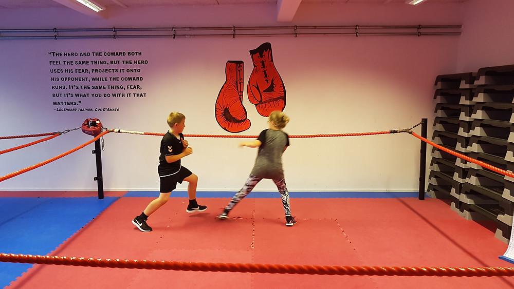 Vi træner hver mandag fra klokken 17.30 - 18.30