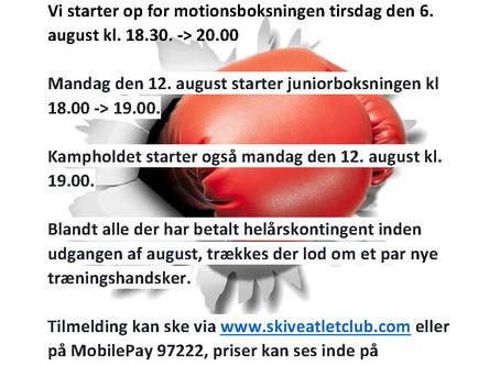 Sæson start 2019 / 2020