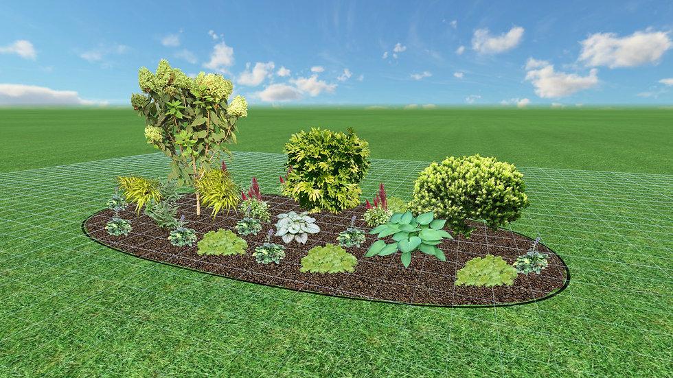 Full Shade Oval Garden Plan