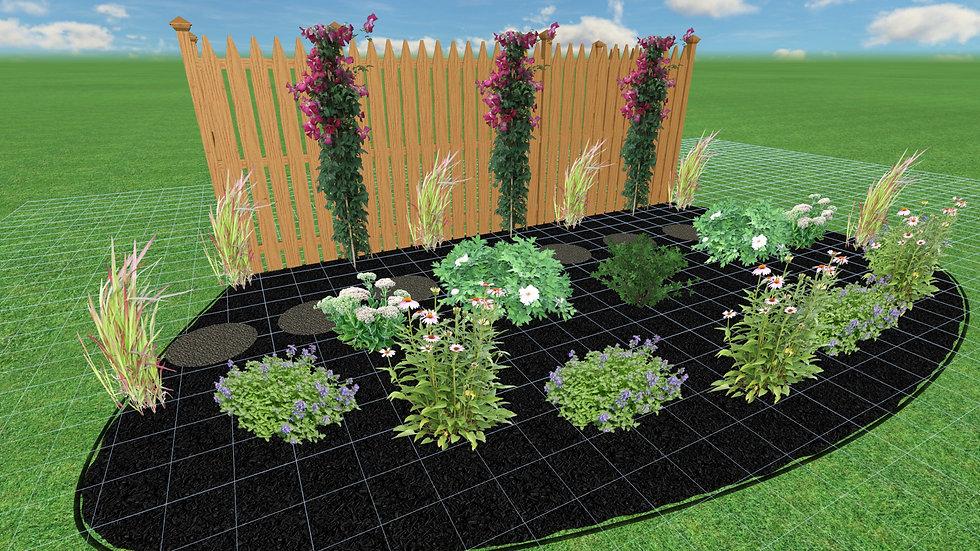 Full Sun Fence Garden Plan