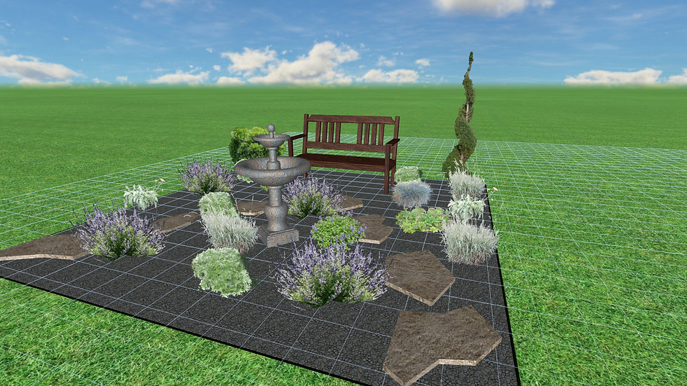 Hot and Sunny Garden Plans