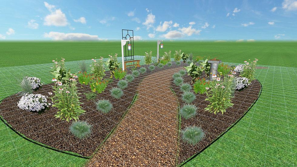 Large Full Sun Native Garden Plan