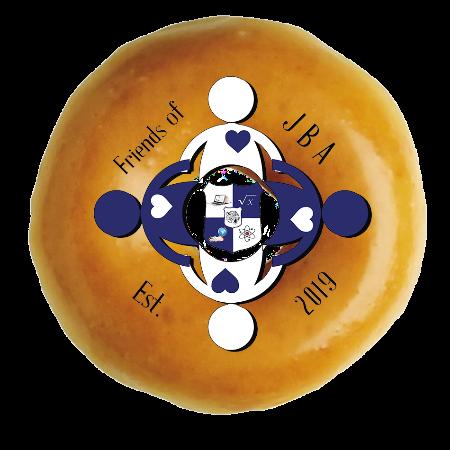 Krispy Creme doughnut with Jonas Bronck Academy logo