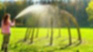 Živý vrbový altán po realizaci