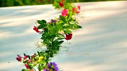 Zahradní dekorace z živých květů