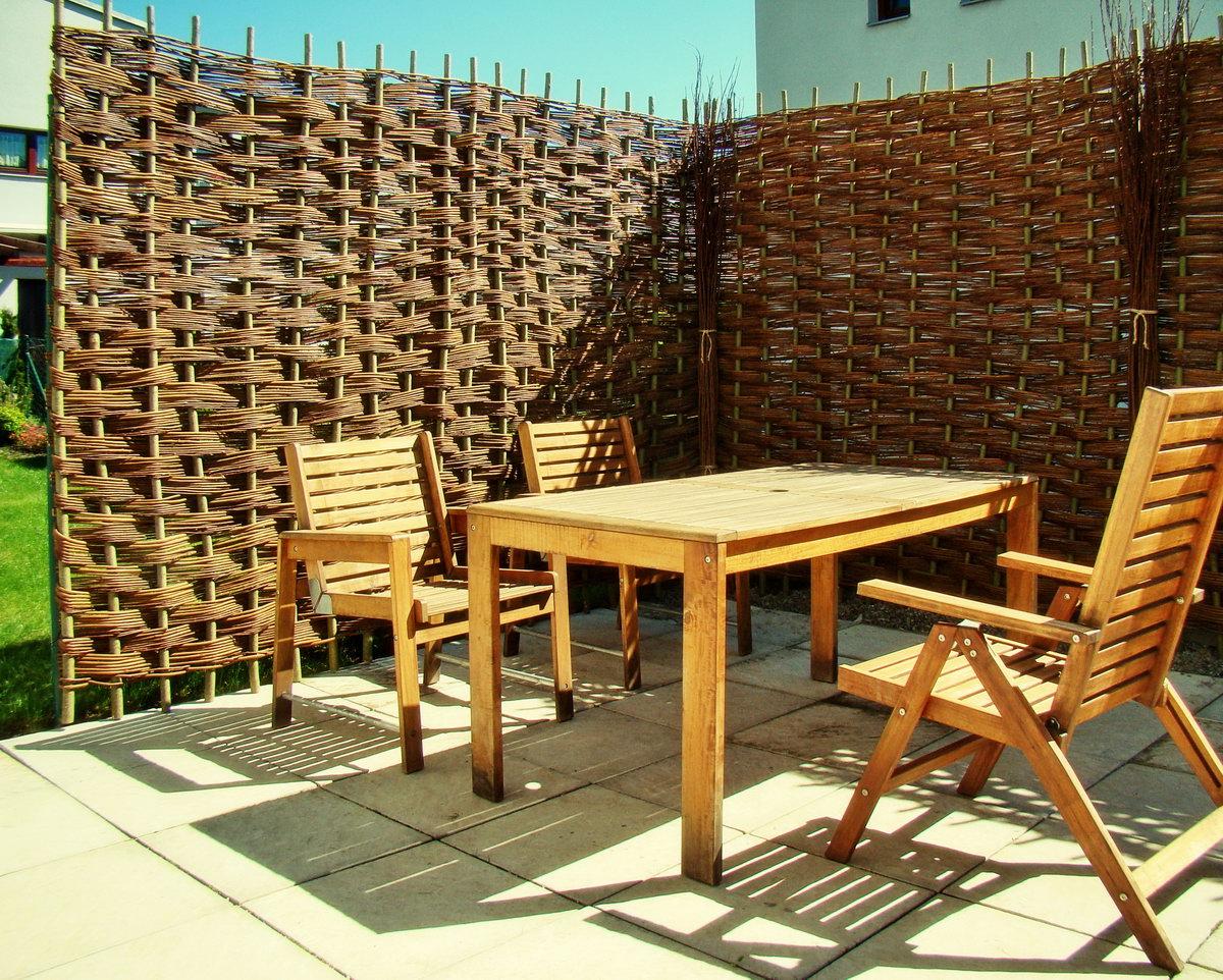 Proutěné ploty šachovnice