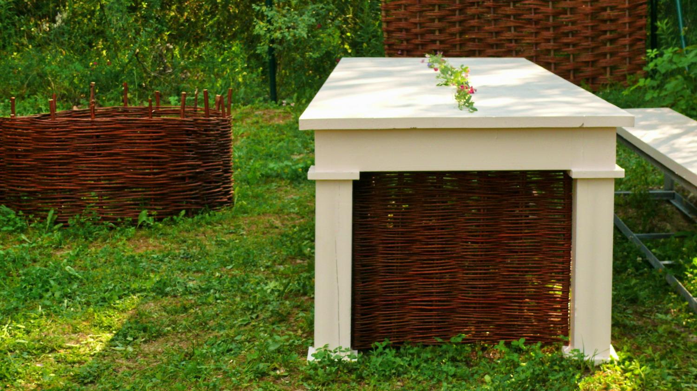 Proutěný výplet zahradního nábytku