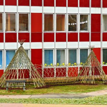 Naplot.cz | vrbové stavby | dvě vrbová teepee