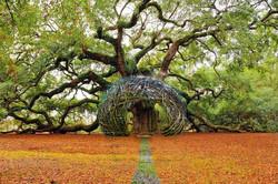 Kopulovitý altán z větví