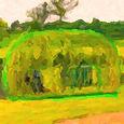 Vrbové igloo z živé vrby
