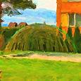 Zastínění pískoviště - vrbový altán z živé vrby