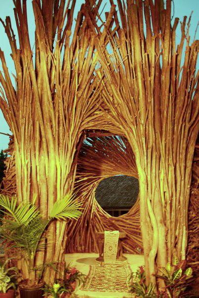 Zahradní altán s kruhovým výhledem