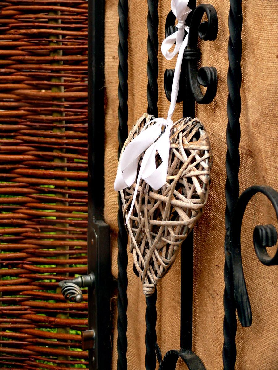 Proutěné ploty a dekorace