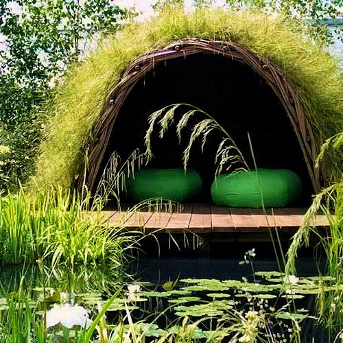 Plážový domek z vrby