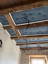Isolation plafond tendu entre-poutres STARLAK
