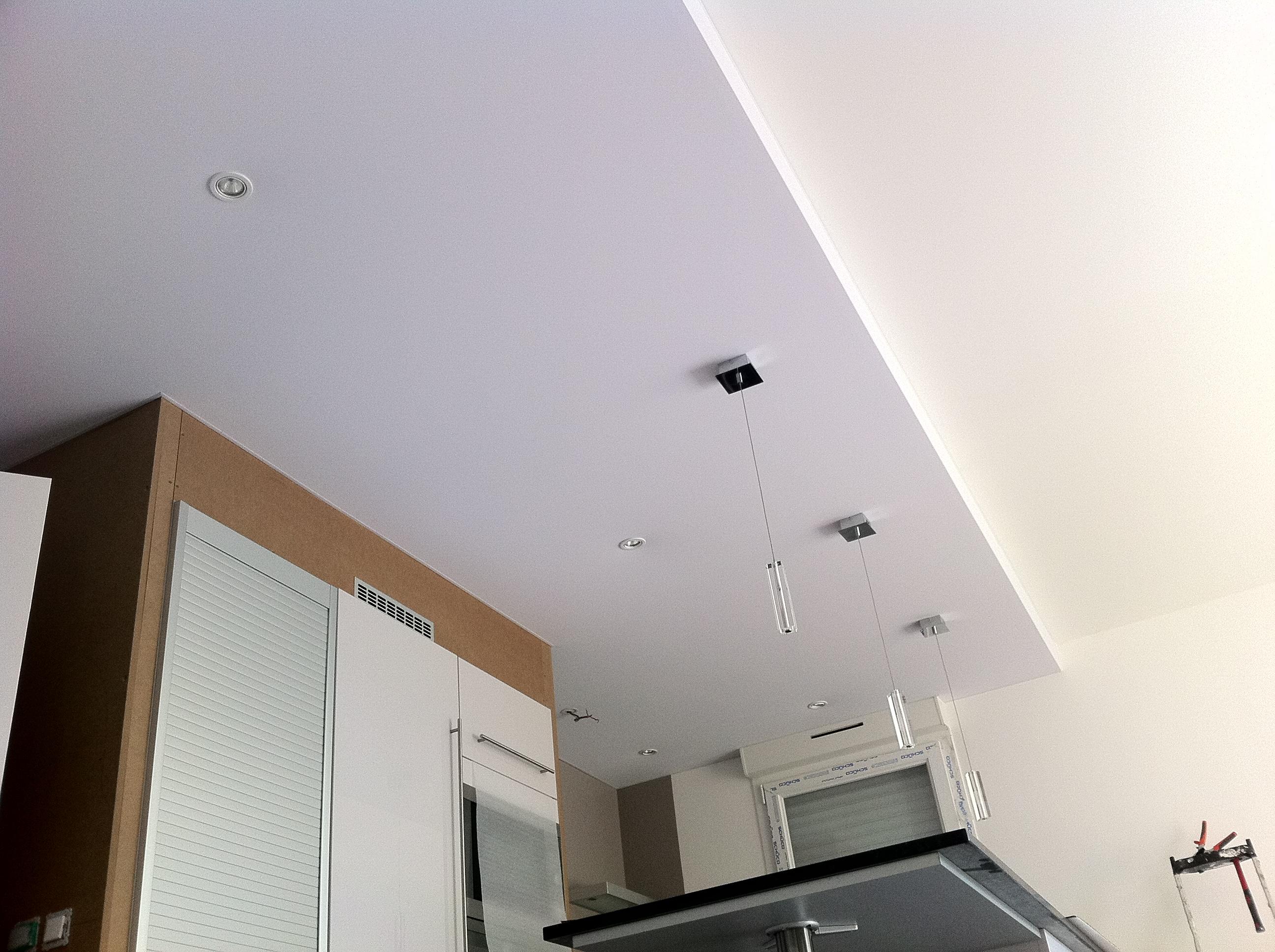 Plafond tendu cuisine