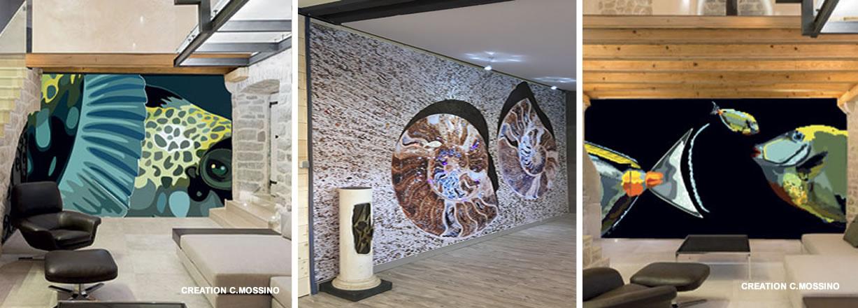 Murs tendu en impression numérique