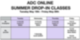 ADC Summer 2020 Drop-In Classes