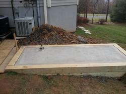 Poured Concrete Base