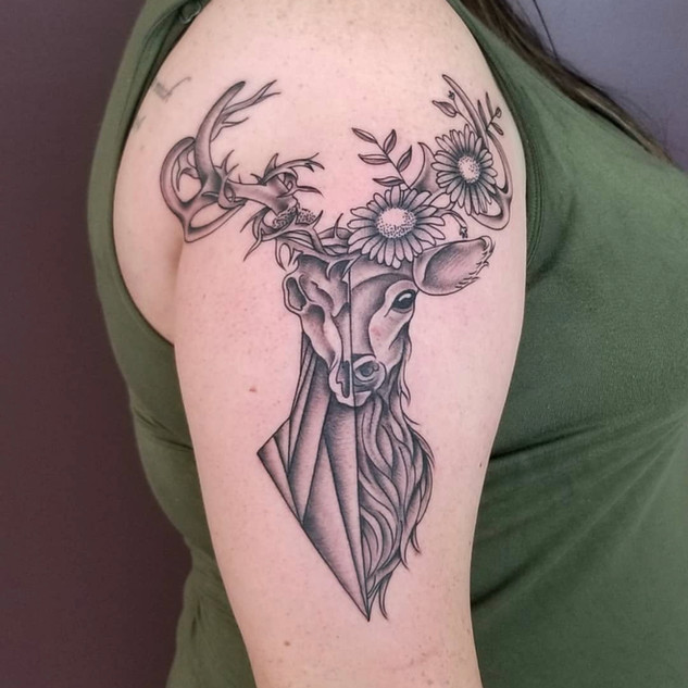 Black And Grey Tattoo Number 6