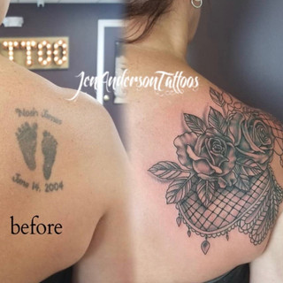 Cover Up Tattoo Number 9