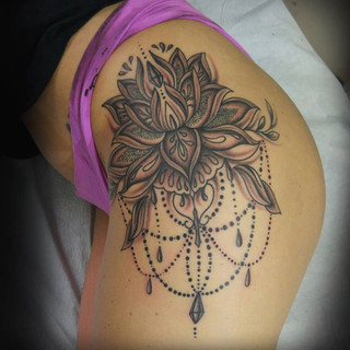 Black And Grey Tattoo Number 9