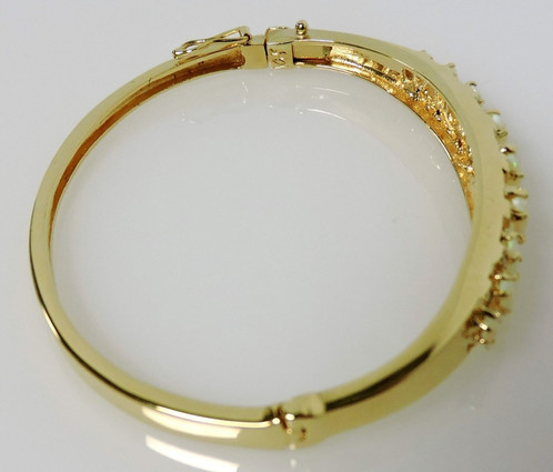 gold i natural carat white bangle diamond solid bracelet bangles other