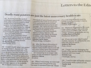 Another letter in the Telegraph !