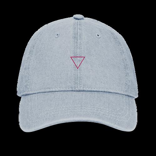 Denim Hat Mini Triangle