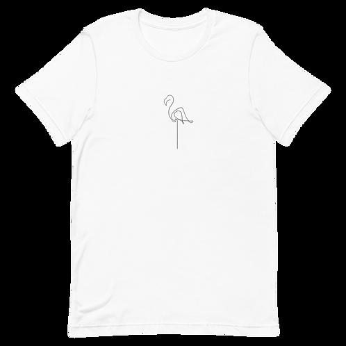 Minimalistic Line Art Flamingo Unisex T