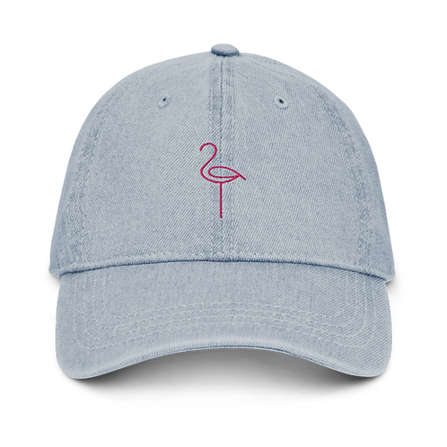 Denim Flamingo Hat