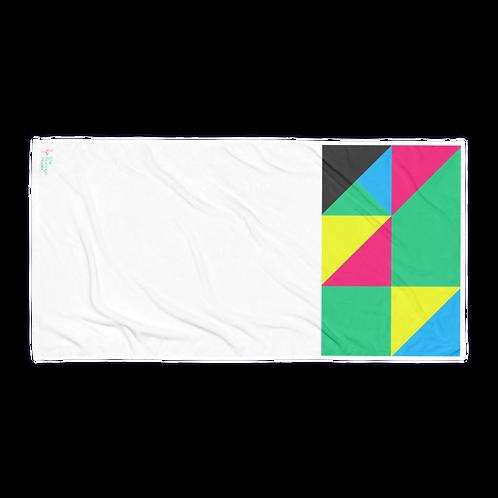 The Flamingo House Logo Color Pattern Towel