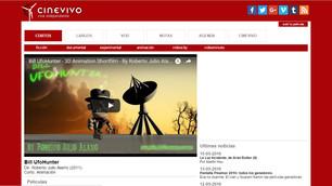 Bill UfoHunter, main cover of the digital portal Cinevivo