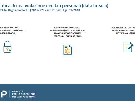 Data Breach: il Garante lancia un nuovo servizio online per semplificare gli adempimenti