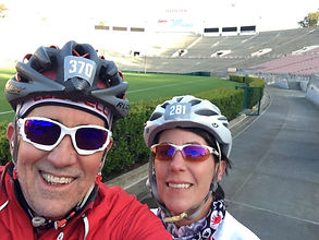 Riuck Zwetsch andCaryn Capriccioso a the Rose Bowl for Bike MS