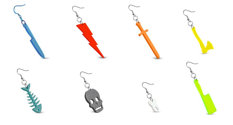 Earrings by Plastic Factory
