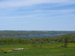 Spring on Conesus Lake