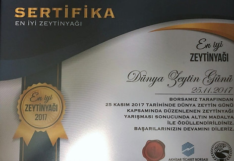 Best Olive Oil / Gold Medal